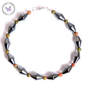 Men's Hematite & Unakite Healing Bracelet